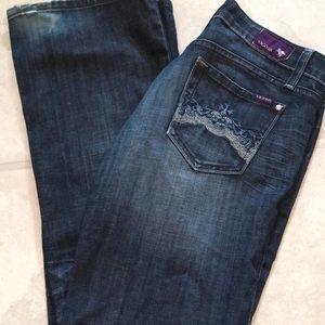 Designer Vigoss 7 dark blue slightly flared jeans